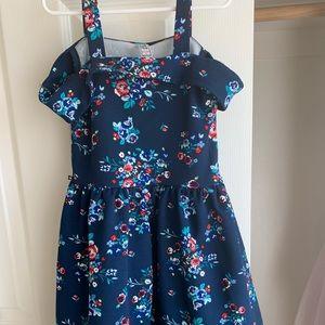 Beautees cold shoulder flowered dress size 7 girls